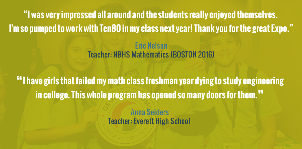 Ten80 STEM Curriculum Testimonials