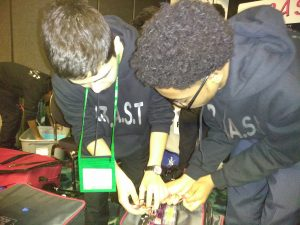 Team B3AST mechanics at work